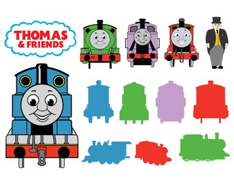10fd6cdbf1 Thomas The Train SVG, Thomas The Train dxf, Thomas The Train Clipart, SVG  Files for Silhouette Cameo or Cricut Eps, png, eps