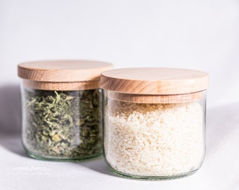Glass containers | Storage box | Wine glass | Spices | Waste glass | Book | Home Decor | Kitchen | Containers | Wine bottle