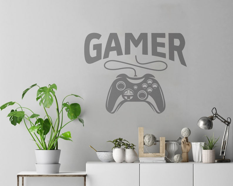 Gamer SVG Printable game controller wall art Silhouette poster game wall art Cutting stiker template Clipart vector instrument PDF pattern