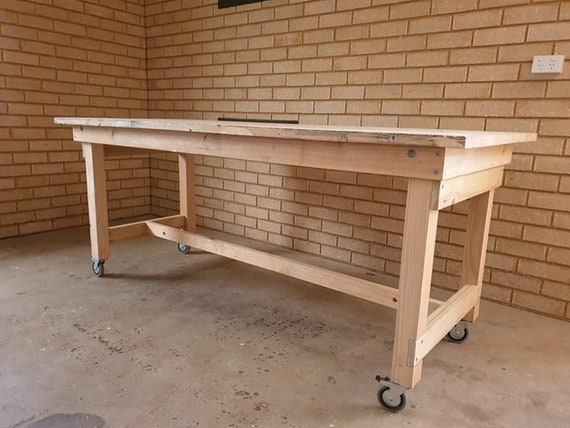 Folding Work Bench Plans Wall Mountable Imperial Us Etsy