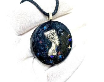 Pharaoh Egyptian Orgonite Necklace w/ Elite Shungite Tourmaline EMF Protection