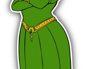 Shrek And Fiona Cartoon Car Bumper Sticker Decal 4'' x 5'' Home Décor Items Wall Decals & Stickers