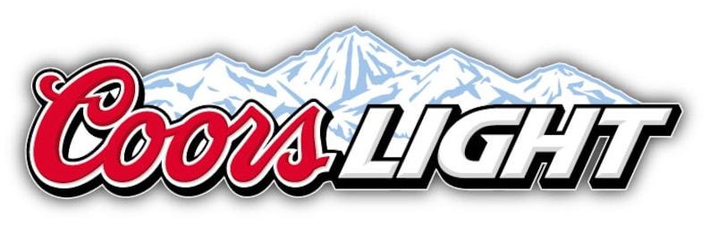 9/'/' Coors Light Logo Car Bumper Sticker Decal 12/'/' or 14/'/'