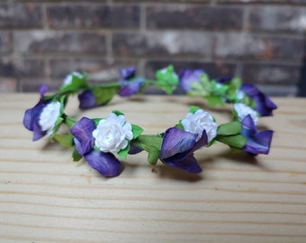 """May Crowning Mary Wreath Purple 3"""" or 4"""""""