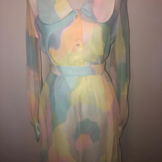 Vintage Lilli Diamond California rainbow dress