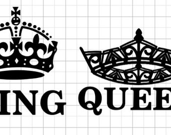 King And Queen Decal Etsy