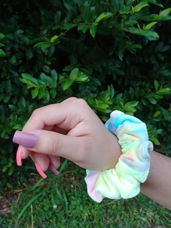 Tie Dye Velvet Scrunchie Hair Scrunchies Scruchy Ponytail | Etsy - Hair Beauty