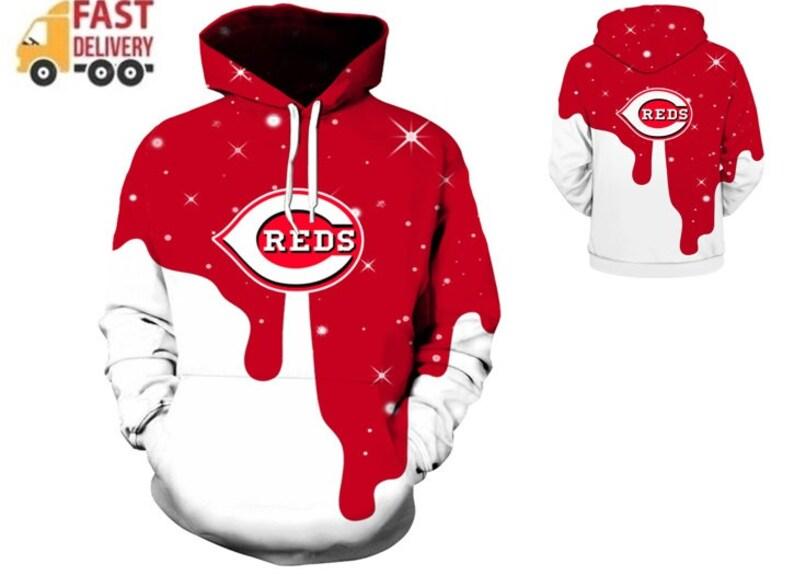 low priced dcd42 56c78 Cincinnati Reds Hoodie Baseball team Sweatshirt 2019 Print Unisex New design