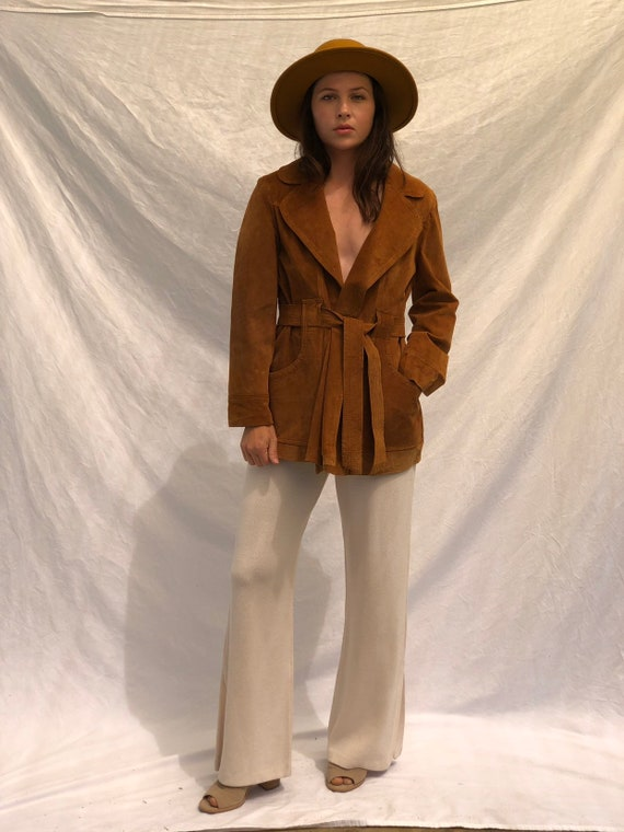 1960s Suede Waist Coat
