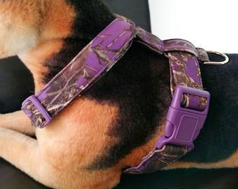 Collier \u00e0 Clip Camouflage Mauve  Clip Collar Purple Camouflage