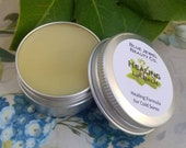 Healing Lip Balm Handmade All Natural with Lemon Balm Infused Sunflower Oil Cold Sore Relief and Prevention