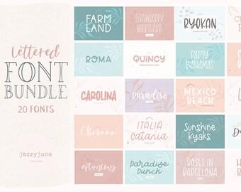 20 Fonts - Hand Lettered Font Bundle - Lettered Font Bundle - Script Fonts - Handwritten Fonts - Cursive Fonts - Luxury - Big Font Bundle