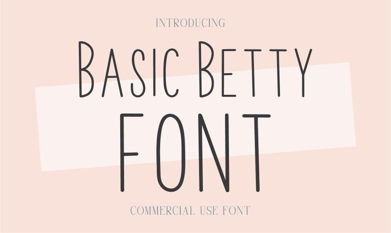 Basic Betty Font .OTF installable font sans serif font tall image 0
