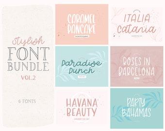 Stylish Font Bundle Vol. 2 - Hand Lettered Font Bundle - Script Fonts - Handwritten Fonts - Cursive Fonts - Luxury Fonts, Spring Font Bundle