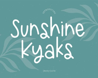 Sunshine Kyaks Font, .OTF installable font, sans serif font, basic font, thin font, summer font, logo font, cricut, skinny, handwriting,girl