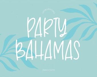 Party Bahamas Font, .OTF installable font, sans serif font, basic font, thin font, summer font, logo font, cricut, skinny, handwriting, girl