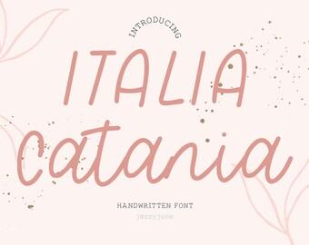 Italia Catania Script Font - Hand-written font , Hand-lettered font, Chic Font, Fashion Font, Luxury Font, Wedding Font, boho, handmade
