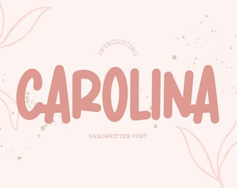 Carolina Font, Sans Serif font, Handwriting, Bold Font, Hand Lettered, Cricut Font, Logo Font, Stylish, Font Bundle, Sans Type, Cute font
