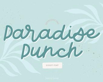Paradise Punch Script Font - Hand-written font , Hand-lettered font, Chic Font, Fashion Font, Luxury Font, Wedding Font, boho, handmade