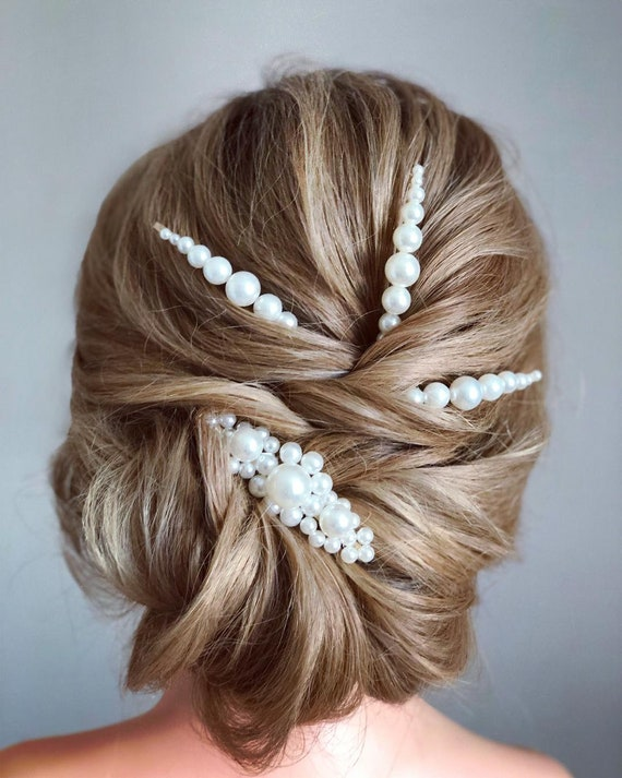 1pair Popular Faux Pearl Korean style Ladies girls hair clip pin OVERSIZED hair clip pin grip pearl  silver metal snap valentines day gifts