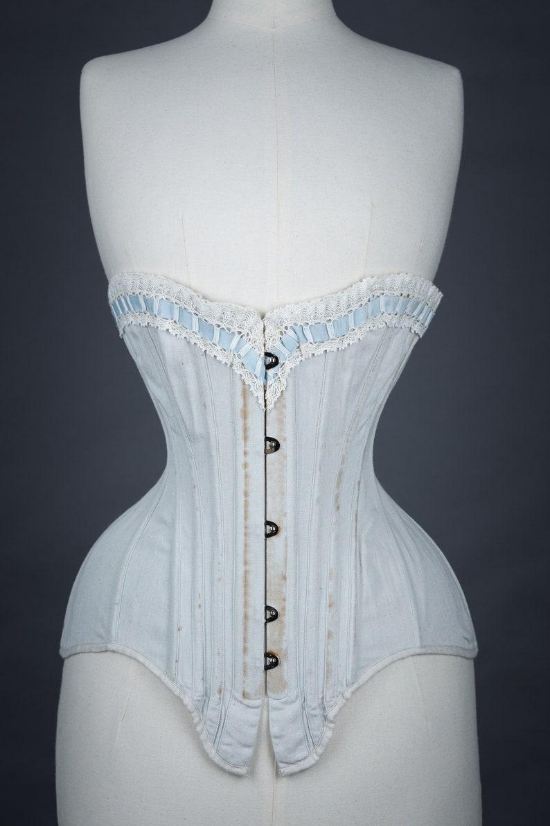 Vintage Lingerie | New Underwear, Bras, Slips 1900s Midbust Edwardian 4 Panel Corset PDF Pattern - Original Historical Garment Size 21