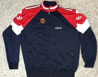 7ba866930 Houston Rockets Basquetball Vintage Jacket Vintage Adidas Retro Top 90s 80s  Vtg Men Size M-L 66x77cm