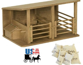 Toy Horse Stable Etsy