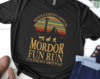 c55b2c9bb Middle earth's annual mordor fun run one does not simply walk vintage shirt