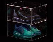 Transparent Drop Front Shoe Box Sneakers Display Clear (przeźroczyste transparentne pudełko na buty) shoe storage, luxury