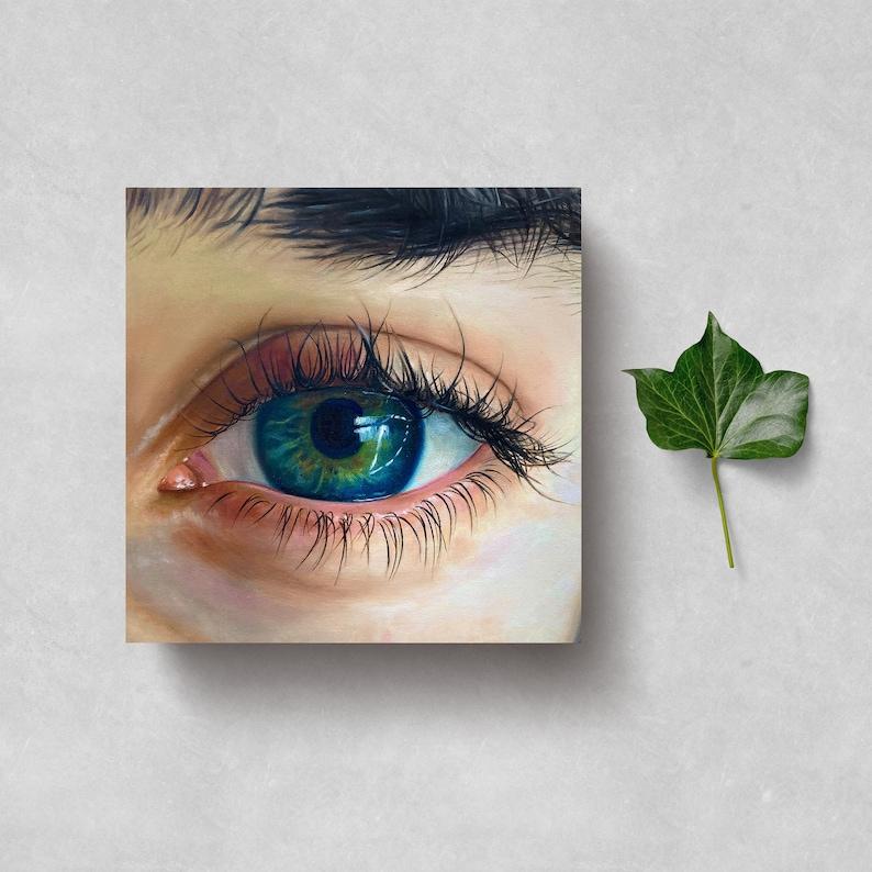 FEMALE EYE PAINTING Eye Original Oil Painting On Canvas image 0