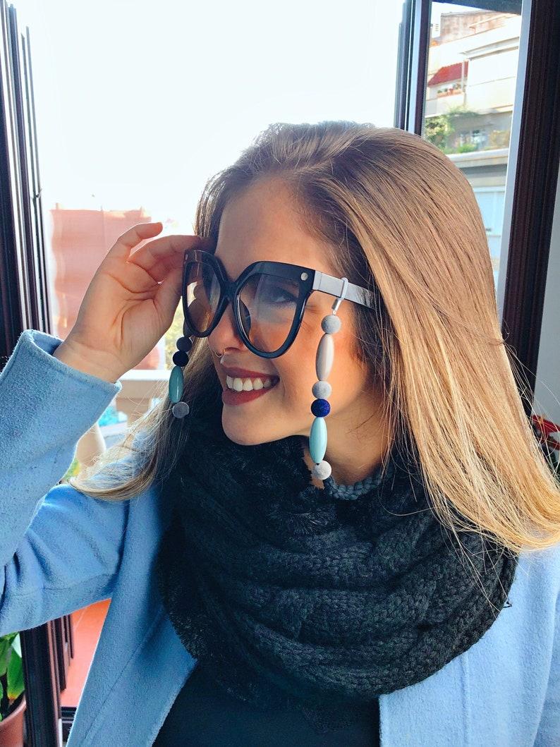 Velvet Glasses Cord Funny Glasses Chain Tirolinas 2020 Glasses Chain Gray Glasses Cord Gray Glasses Bras