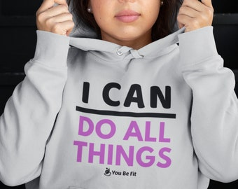 Motivation - Champion Hoodie - I Can Do All Things -Gray