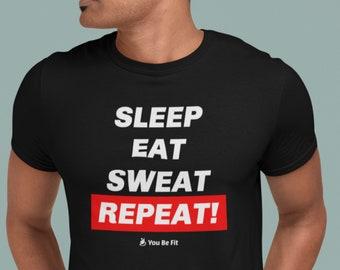 Motivation Short-Sleeve Unisex T-Shirt | Sleep Eat Sweat Repeat