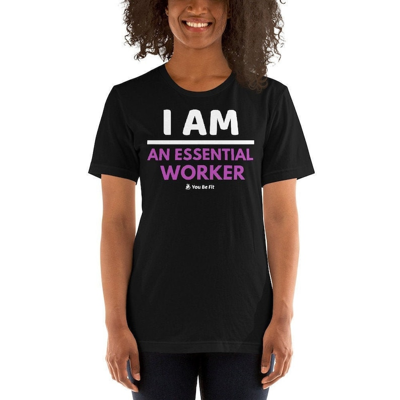 Essential Worker/T-Shirt/black/gray/active wear/short image 1