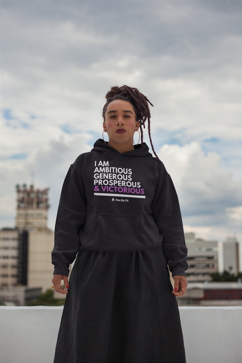 Motivation  Champion Hoodie  I Am Victorious image 1