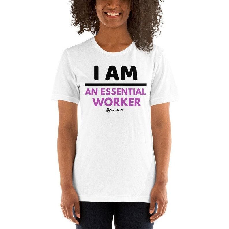 Essential Worker/T-Shirt/white/active wear/short image 1