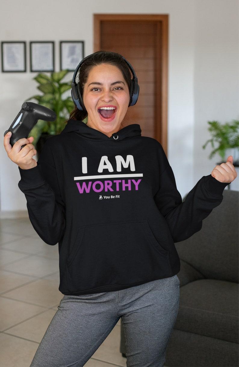 Motivation  Champion Hoodie  I Am Worthy image 1