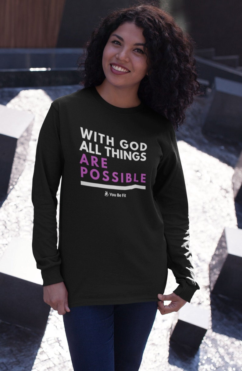 Motivation  Long-Sleeve Tee  Unisex  All Things Are image 1