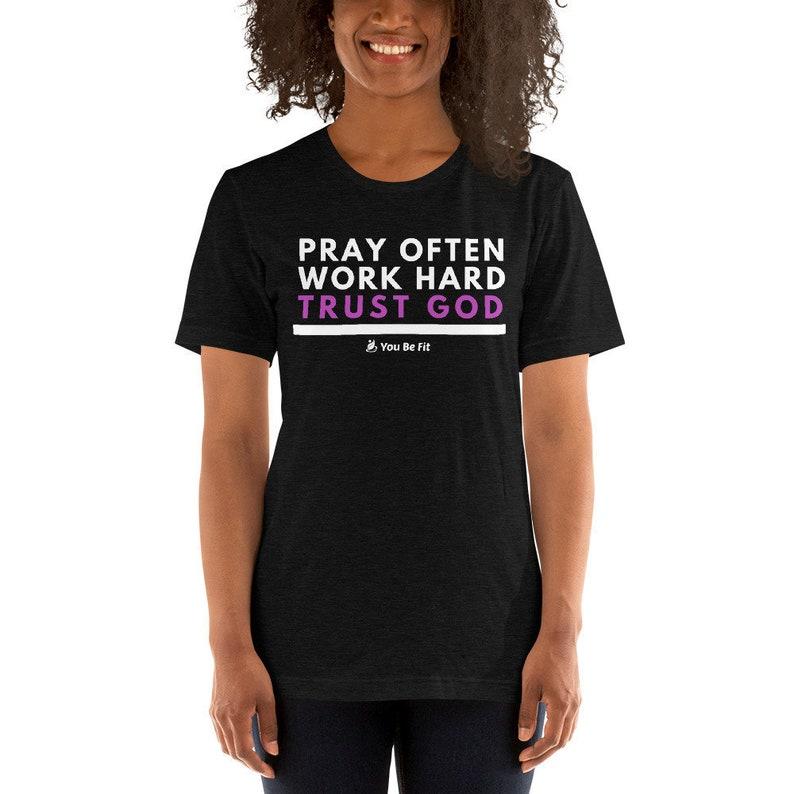 Motivation Short-Sleeve Unisex T-Shirt  Trust God image 1