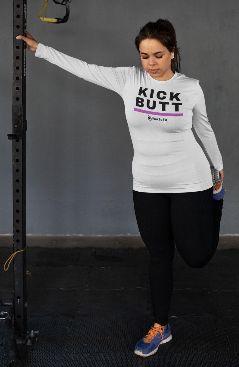 Motivation  Long-Sleeve Tee  Unisex  Kick Butt image 1
