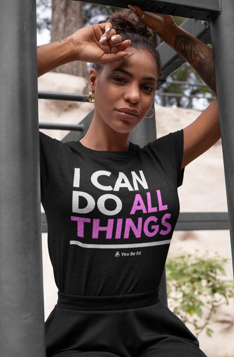Motivation  Short-Sleeve Unisex T-Shirt  I Can Do All Things image 1