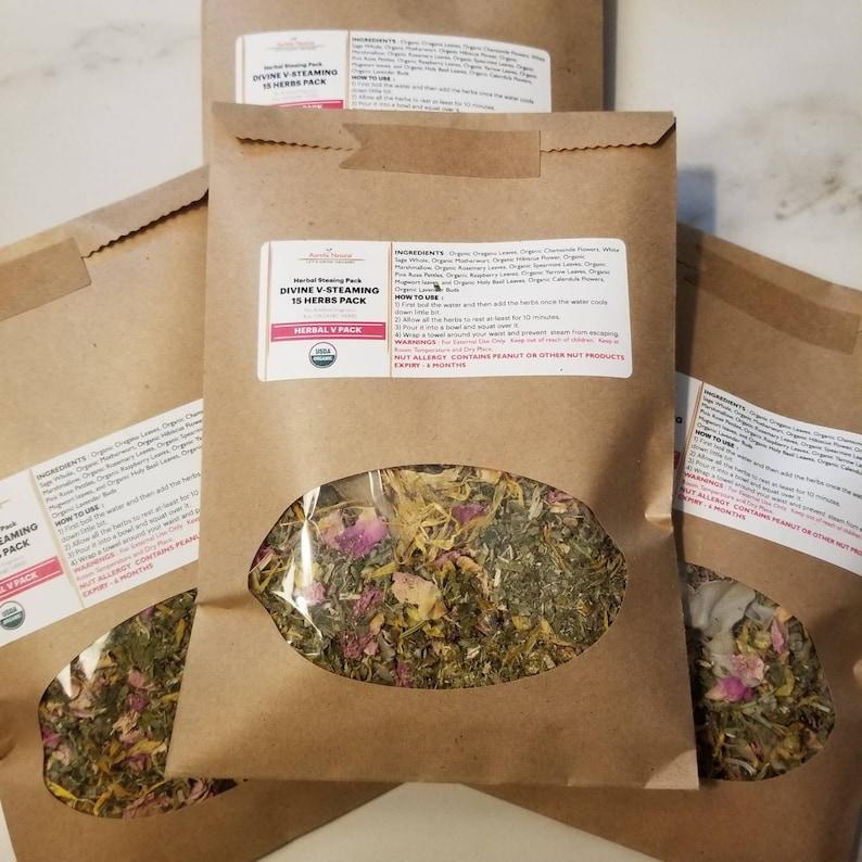Organic Divine Vaginal Steaming Pack 15 Herbs 5 Steams image 4