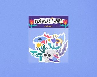 Flowers, Sticker Pack