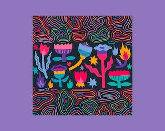 Acid Flowers, Illustration, Print