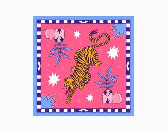 Tiger, Illustration, Print
