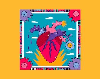 Heart, Illustration, Art Print