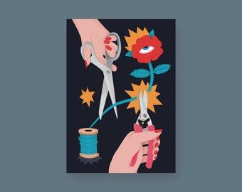 A Pair of Scissors, Illustration, Print
