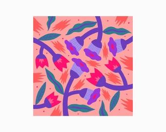 Flowers, Pattern, Illustration, Print