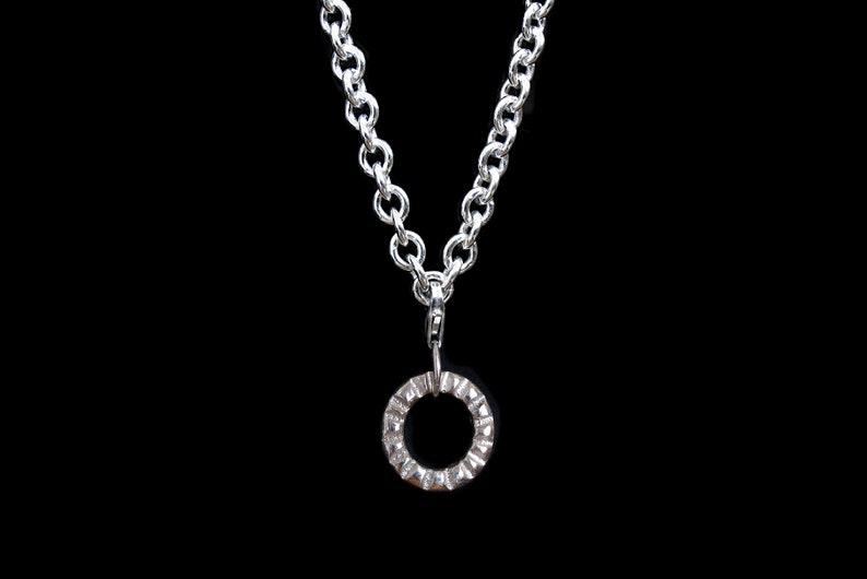 made to order in London. solid silver bracelet womens bracelet Textured Silver Bracelet: sand cast removable charm bracelet
