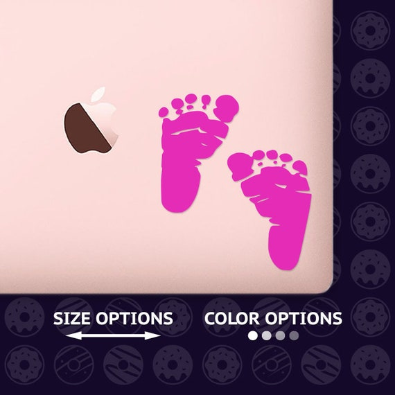 cheap shoes for cheap limited guantity Baby Footprint Laptop Vinyl Decal Footprints Macbook Air Or | Etsy